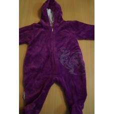 Фиолетовый комбинезон. Размер 62 -68