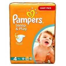 Памперсы Pampers Sleep & Play (4) 7-14 кг, 86 шт