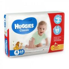 Подгузники Huggies Classic (4) 7-18 кг, 68 шт.